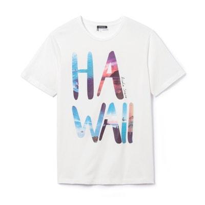 Bedrukt T-shirt met ronde hals in zuiver katoen La Redoute Collections