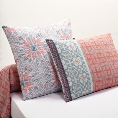 Fronhas de almofada e de travesseiro estampada Bergame La Redoute Interieurs