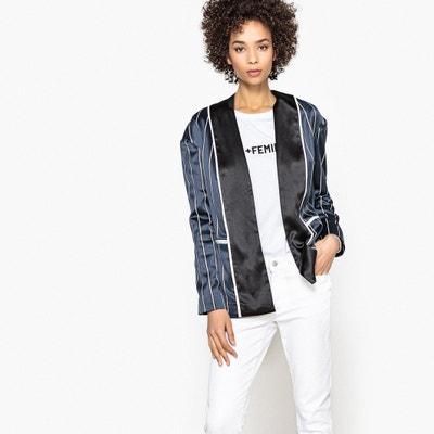 Gestreifte Jacke im Kimono-Stil Gestreifte Jacke im Kimono-Stil La Redoute Collections