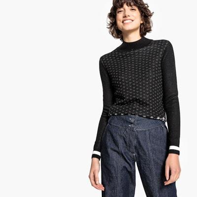 Zweifarbiger Pullover mit Stehkragen Zweifarbiger Pullover mit Stehkragen La Redoute Collections