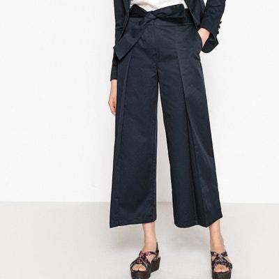 Pantaloni larghi accorciati cintura da annodare La Redoute Collections