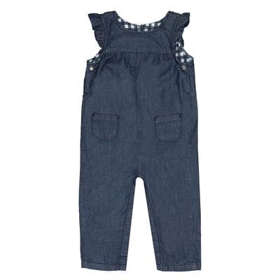 Salopette en jean doublée carreaux 1 mois - 3 ans Salopette en jean doublée carreaux 1 mois - 3 ans LA REDOUTE COLLECTIONS