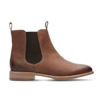 Maypearl Nala Leather Chelsea Boots CLARKS