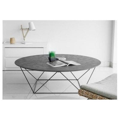 table basse avec plateau en imitation bton cir copa declikdeco