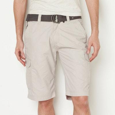 Bermudas con múltiples bolsillos y cinturón tipo correa Bermudas con múltiples bolsillos y cinturón tipo correa SCHOTT