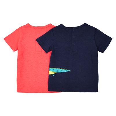 Camiseta con cuello redondo, Oeko-Tex, 1 mes - 3 años (lote de 2) La Redoute Collections