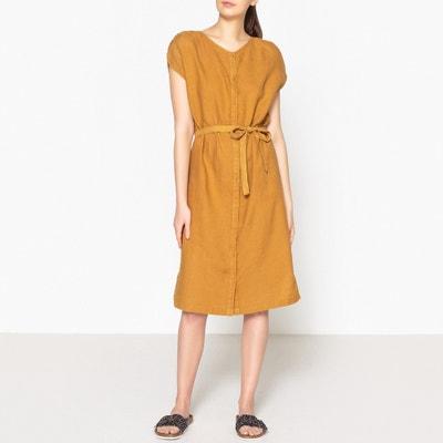 Платье из однотонного льна LINE Платье из однотонного льна LINE HARRIS WILSON