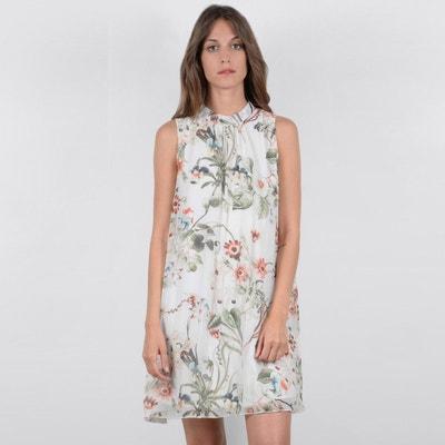Ärmelloses Kleid mit Blumenmuster und gerader Form MOLLY BRACKEN