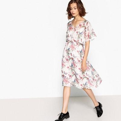 Платье с v-образным вырезом и цветочным принтом Платье с v-образным вырезом и цветочным принтом PEPE JEANS