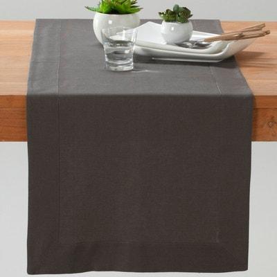 Bieżnik na stół, płótno lniano-bawełniane, BORDER Bieżnik na stół, płótno lniano-bawełniane, BORDER La Redoute Interieurs