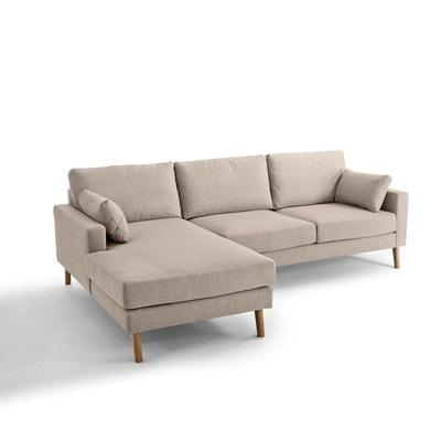 Canapé d'angle fixe Stockholm polyester chiné, con Canapé d'angle fixe Stockholm polyester chiné, con LA REDOUTE INTERIEURS