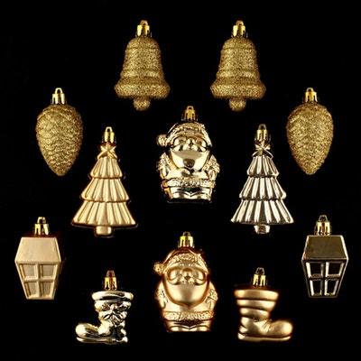 Lot de 12 décorations de noël ATMOSPHERA