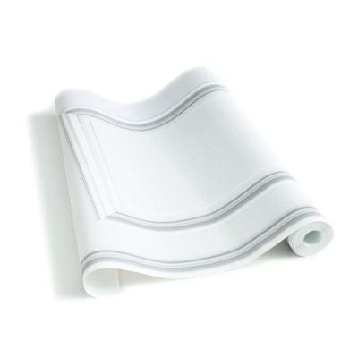 Papier Peint Boiseries Haussmann blanc grisé Papier Peint Boiseries Haussmann blanc grisé KOZIEL