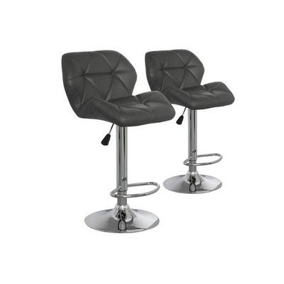 Lot de 2 chaises de bar grises en métal CANADA DECLIKDECO