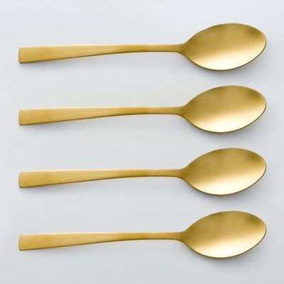 Lot 4 cuillères à soupe dorées, AUBERIE Lot 4 cuillères à soupe dorées, AUBERIE La Redoute Interieurs