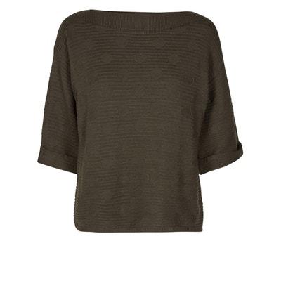 Пуловер из трикотажа в рубчик с рукавами 3/4 Пуловер из трикотажа в рубчик с рукавами 3/4 NUMPH