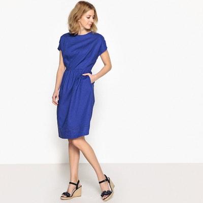 Kleid, ausgestellte Form, Hauptanteil Leinen ANNE WEYBURN
