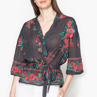 Blouse kimono imprimée fleurs CRAZY UKRANIA Blouse kimono imprimée fleurs CRAZY UKRANIA LEON and HARPER