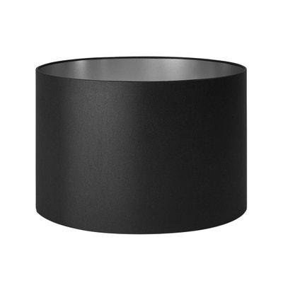 Abat-jour cylindrique Polyester SOLAS Noir et argent MADURA