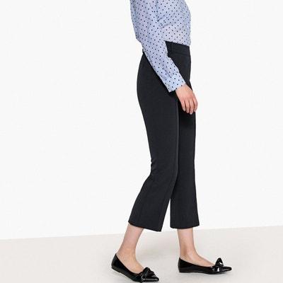 Pantalon bootcut raccourci plis marqués Pantalon bootcut raccourci plis marqués La Redoute Collections