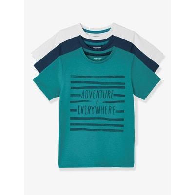Lot de 3 T-shirts manches courtes garçon VERTBAUDET