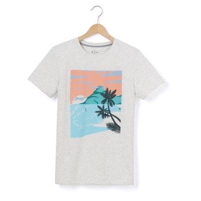 T-shirt de mangas curtas 10-16 anos T-shirt de mangas curtas 10-16 anos La Redoute Collections
