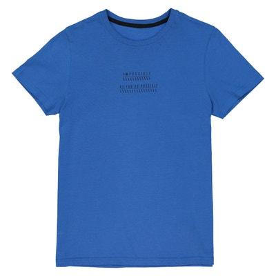 t-shirt col rond imprimé devant dos 10-16 ans La Redoute Collections