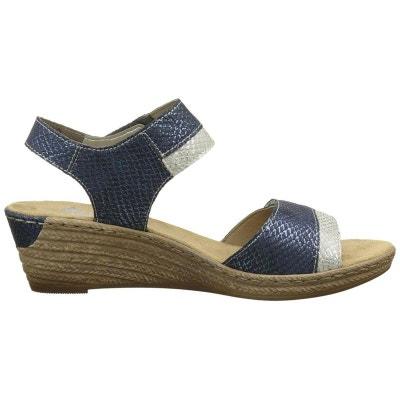 Chaussures En Dentelle Bleu Avec Des Perles Rieker Rieker nvJy1G9xY