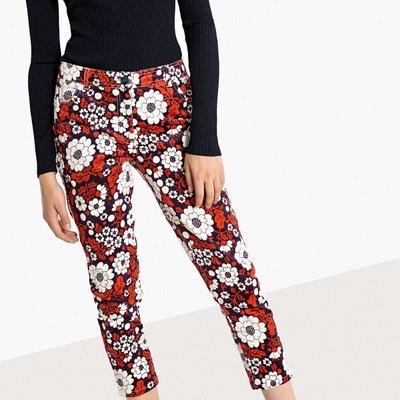 Pantalon droit imprimé floral La Redoute Collections