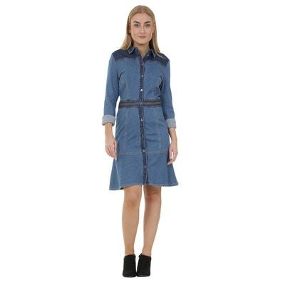 Robe en jean femme manche longue en solde   La Redoute c0544d9351f1