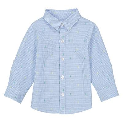 Bedrukt hemd met lange mouwen, 1 mnd - 3 jaar Bedrukt hemd met lange mouwen, 1 mnd - 3 jaar La Redoute Collections