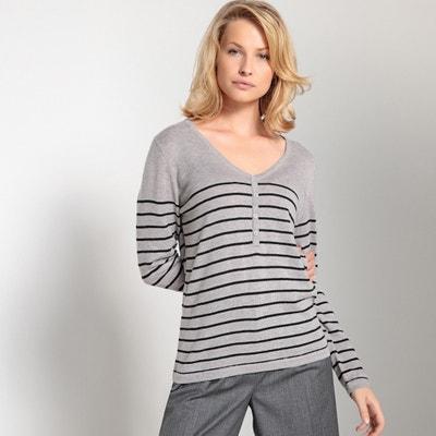 Jersey de estilo marinero con cuello de pico Jersey de estilo marinero con cuello de pico ANNE WEYBURN