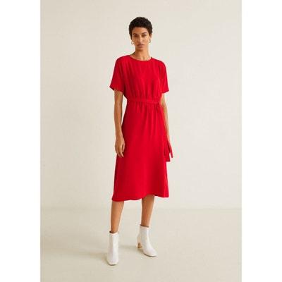 Robe tissu avec noeud en solde   La Redoute 93d8b5af799e