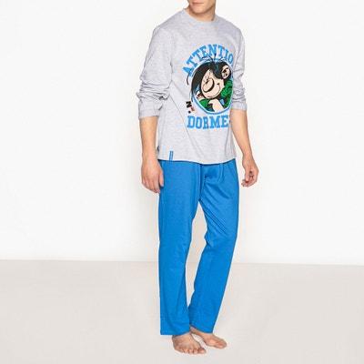 Pijama em algodão, mangas compridas, Gaston Lagaffe Pijama em algodão, mangas compridas, Gaston Lagaffe GASTON LAGAFFE