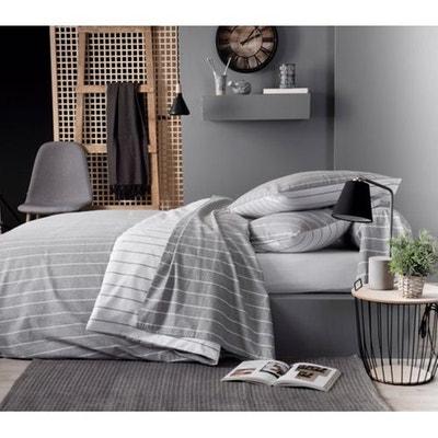 draps de lit en flanelle la redoute. Black Bedroom Furniture Sets. Home Design Ideas