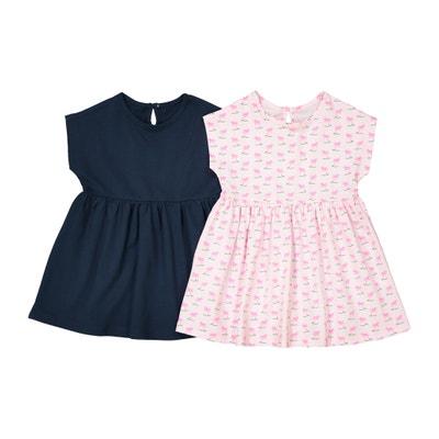 2er-Pack Jersey-Kleider mit kurzen Ärmeln, 1 Monat - 3 Jahre La Redoute Collections
