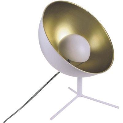 Lampe à poser cinéma blanc et or Lampe à poser cinéma blanc et or CMP