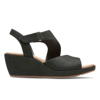 Un Plaza Sling Suede Wedge Sandals Un Plaza Sling Suede Wedge Sandals CLARKS