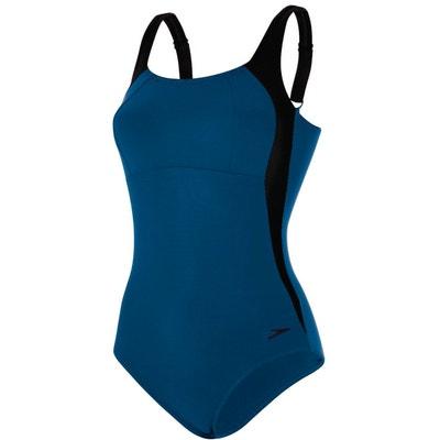 596463628c68a Lunalustre - Maillot de bain Femme - bleu noir SPEEDO