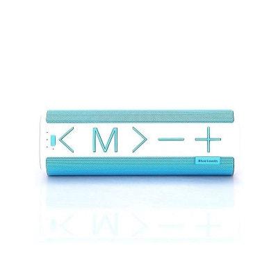 Enceinte Bluetooth 3.0 Design Booster Bleue Et Blanche Enceinte Bluetooth 3.0 Design Booster Bleue Et Blanche AMAHOUSSE