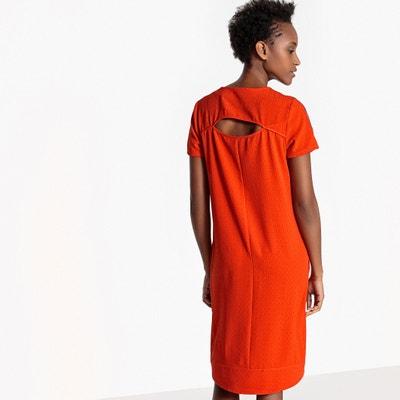 Vestido direito, liso, abertura atrás La Redoute Collections