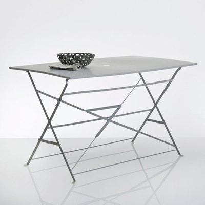 Ozevan Rectangular Metal Folding Table La Redoute Interieurs