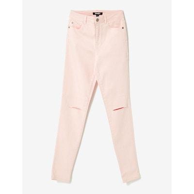 Pantalon taille haute à cut JENNYFER