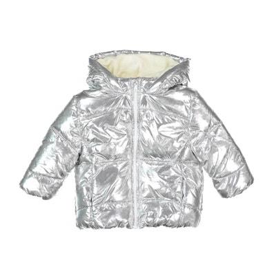 Куртка стеганая с капюшоном серебристого цвета, 3 мес. - 3 года Куртка стеганая с капюшоном серебристого цвета, 3 мес. - 3 года La Redoute Collections