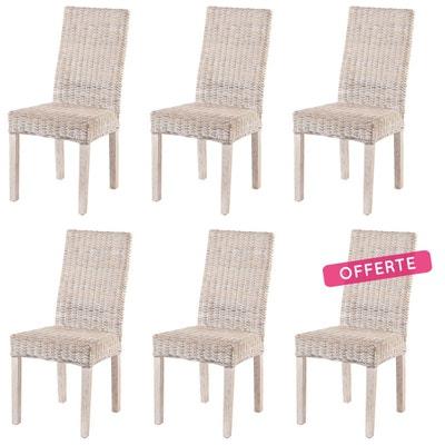 lot de 6 chaises zicavo en kubu lot de 6 chaises zicavo en kubu rotin design - Chaise En Osier