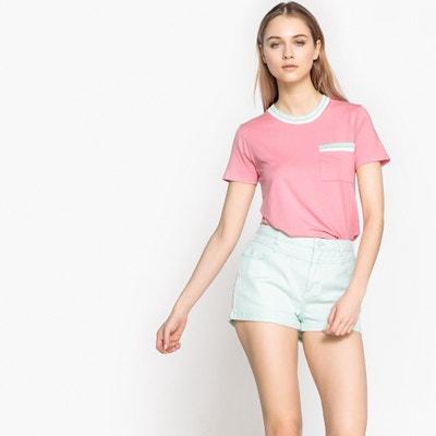 T-shirt col rond 1 poche poitrine manches courtes T-shirt col rond 1 poche poitrine manches courtes La Redoute Collections