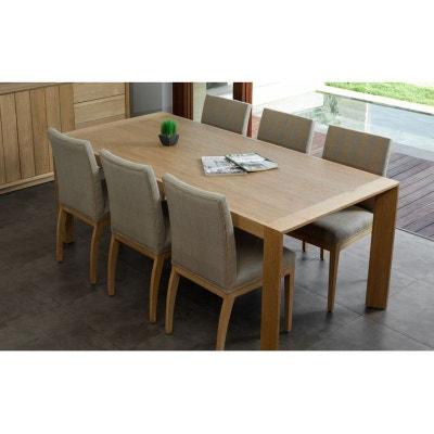 Table salle a manger bois et chiffon | La Redoute