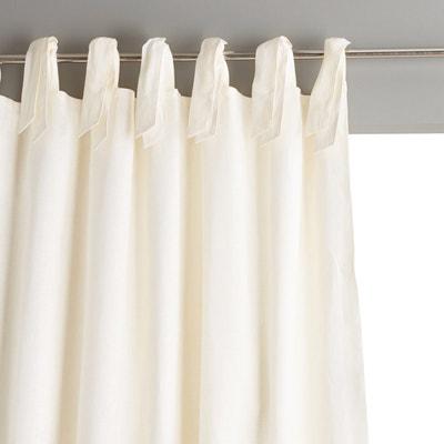 Klassischer, gefütterter Vorhang aus Leinen mit Bändern,
