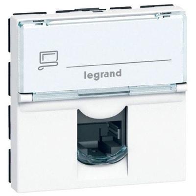 LEGRAND Prise RJ 45 informatique-téléphone 2 modul MCD