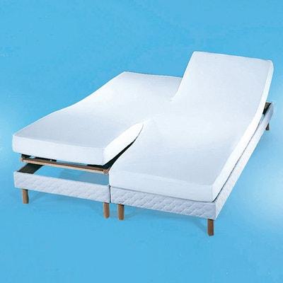 Coprimaterassoin tessuto felpatoper letti accostati, rivestito in PVC impermeabile Coprimaterassoin tessuto felpatoper letti accostati, rivestito in PVC impermeabile REVERIE